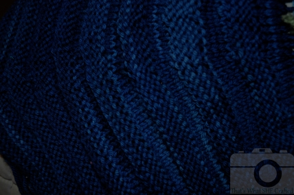 Malabrigo Azul Profundo Close Up-- That's What She Crafted