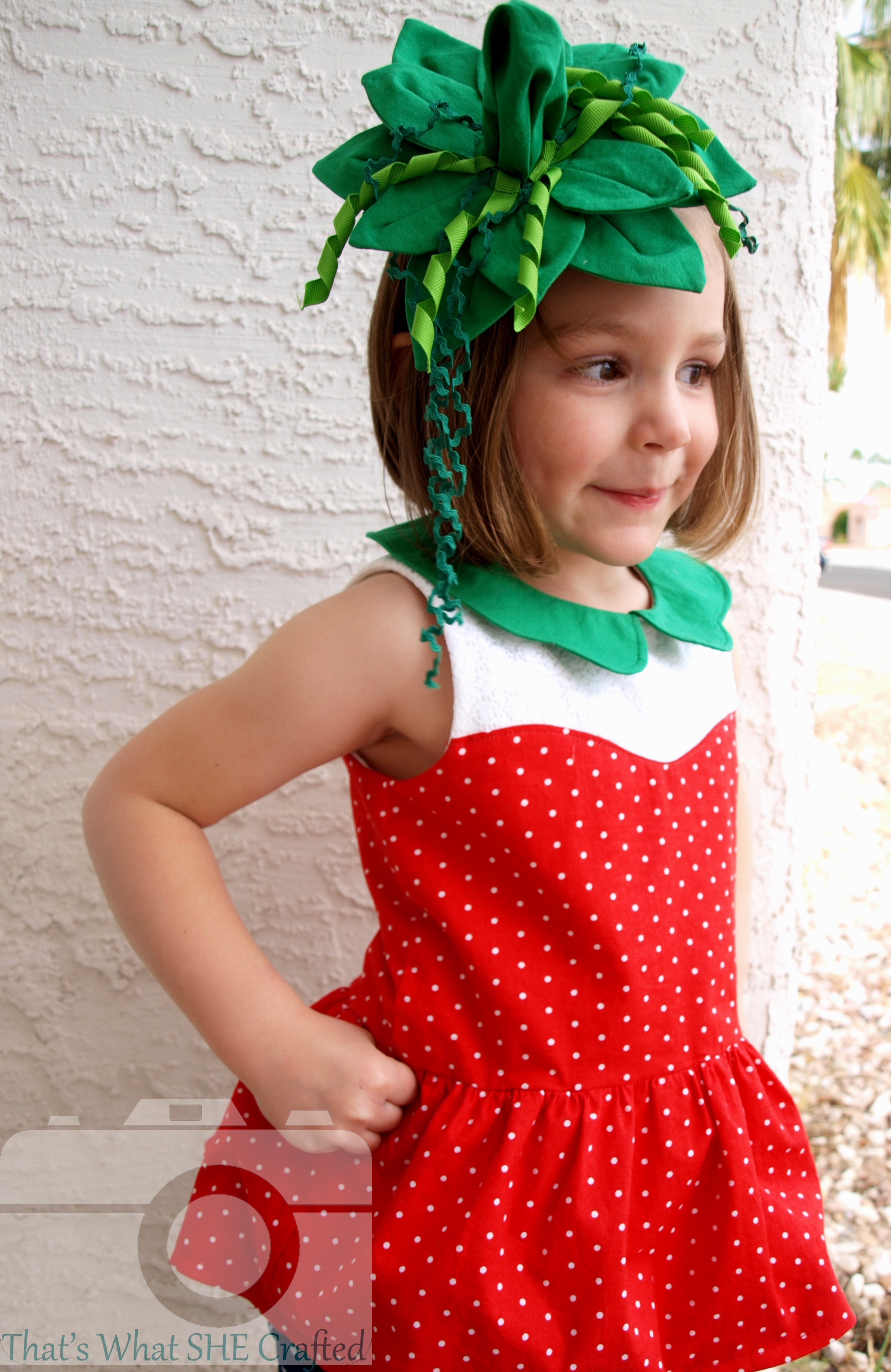 Sheu0027s a Strawberry! Thank baby Jesus that My Little Plumcake released this awesome pattern just in time. Itu0027s called the Cordelia Sweetheart Peplum Top.  sc 1 st  Thatu0027s What She Crafted & Thatu0027s What She Crafted: Pattern Review Halloween Style: My Little ...