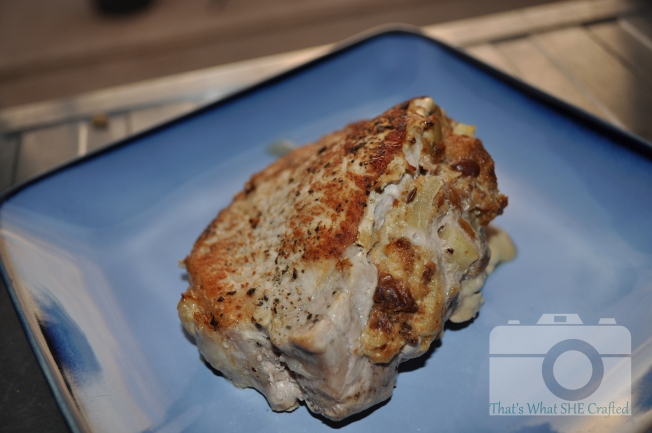 Plain stuffed chop--That's What She Crafted